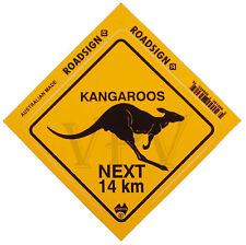 Australia Made Souvenir Roadsign Sticker Australian Kangaroo