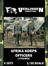 Verlinden 1:35 Afrika Korps Officers - 2 Resin Figures Kit #1672
