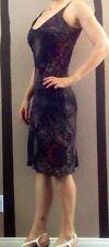 Free People Swing Dress 40s Polka Dots Black Pencil Vintage Rockabilly M Pin Up