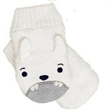 NEW Gymboree Baby Toddler Boys 6-12 mos White Knit Mittens