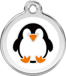 RED DINGO PENGUIN ENGRAVED DOG / CAT IDENTITY PERSONALISED ID CHRISTMAS TAG