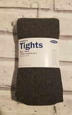 New Old Navy Women's Dark Gray Ribbed Tights Size L-XL