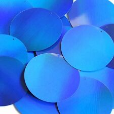 "Blue Lazersheen Reflective Sequins Round 2"" Large Couture Paillettes"