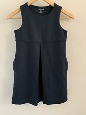 Lands Land's End Girls 8 Navy Blue School Uniform Navy Blue Jumper Dress