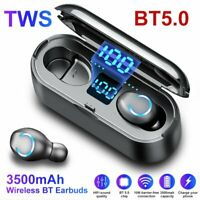 TWS Wireless Earphones Bluetooth 5.0 Headset Mini Earbuds Stereo Headphones IPX7