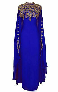 SALE !! MOROCCAN DUBAI KAFTANS FARASHA ABAYA DRESS VERY FANCY LONG GOWN MC 2021
