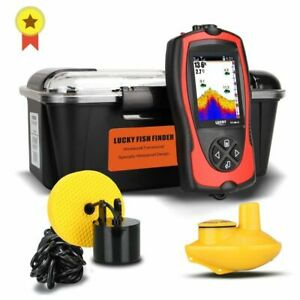 Wireless Sonar Fish Finder Portable LCD Depth Sounder Alarm Transducer Handheld