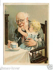 Victorian Trade Card ROYAL JAVA COFFEE Old Man with Baby