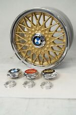 BMW BBS RZ Hex Nuts Kits Centerlock Center Cap Plates 15 Inch 4x100 VW Style 5
