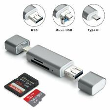 Micro USB OTG to USB 2.0 Adapter SD Card Reader For Macbook Tablets Smartphones