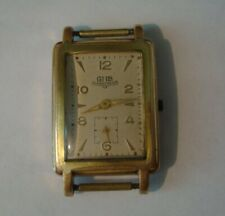 Rare Vintage Men's rectangular wrist watch-GUB GLASHUTTE / SA. GDR. 1950-60's