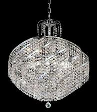 "World Crystal Swirl 15 Light 26"" Dining Crystal Chandeliers Ceiling Light Chrome"