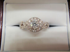 NEIL LANE 1.11 CTW DIAMOND  ENGAGEMENT WEDDING RING 14K WG SZ 5.5  WAS 3499.00
