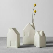 Hearth & Hand Joanna Gains Magnolia Bud Vases Ceramic House Set of 3 Cream