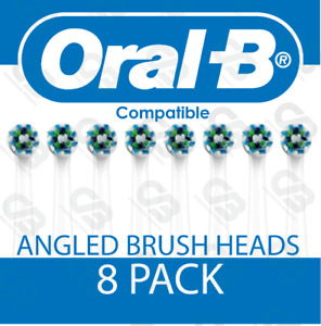 Braun Oral B Compatible Head CROSS Angled Replacement Toothbrush Heads 8 PACK