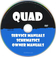 QUAD Hifi Service Owner Manuals & Schematics- PDFs on DVD - Huge Collection