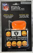 Oakland Raiders Halloween Pumpkin Carving Kit New! Stencils for Jack-o-latern