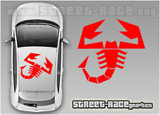Fiat 500 roof Abarth Scorpion 003 decals stickers graphics vinyl