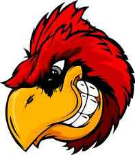 "Angry Cardinal Bird Car Bumper Sticker Decal 5"" x 5"""