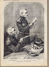 Colomb & Pourcet at Trial of Marshal Bazaine Versailles France -1873 Engraving