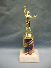 Female Basketball trophy award theme column marble base