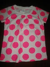 NWT 4/5 Crewcuts J Crew White Top w/ BIG  Pink Dots