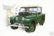 LAND-ROVER SERIES 1  Postcard Set - Hard-Top Pick-Up Truck Cab 80 86 88 107 inch