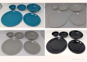 EDGO Melamine Plates Bowls Round Various Colours/Sizes Party Picnic BBQ Buffet