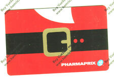 PHARMAPRIX Limited Edition holiday Gift Card 2016 No Value BILINGUAL RECHARGABLE