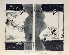 Orbein Perez Lithograph. Me vengo a tu encuentro…, 1979. Original signed