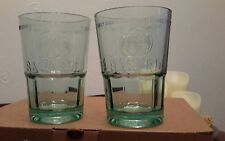 2 x Bacardi Rum Mojito Cocktail EMBOSSED Glasses New