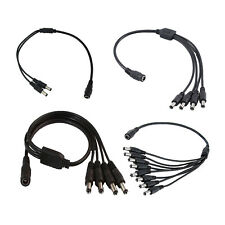 CCTV DC Power Splitter Adapter 2 to 8 Ways Cable For 12V 9V PSU Security Camera