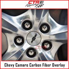 2016-2017 Chevrolet Camaro Wheel Center Cap Rim Overlay Decal Carbon Fiber