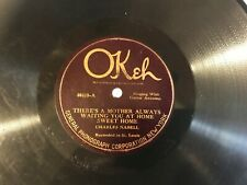 CHARLES NABELL on OKEH 40418 LITTLE JOE / THERE'S A MOTHER ALWAYS WAITING YOU AT