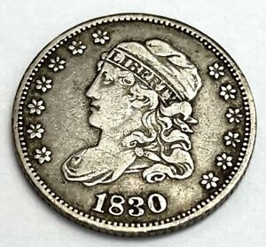 1830 Capped Bust Half Dime - Cleaned