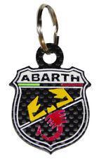 Portachiavi in CARBONIO modello: FIAT 500 ABARTH. dimensioni: 52 x 39 mm