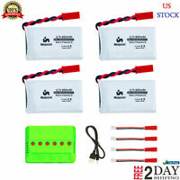 4 Pack 25c Upgrade Lipo Battery JST Plug with X6 Charger for Sky Viper Drone New