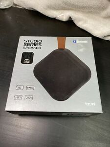 New -Studio Series Speaker by Tzumi -Mini Waterproof Bluetooth Fabric Speaker