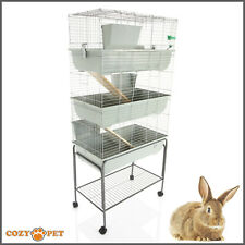 Rabbit / Guinea Pig 3-Tier Cage by Cozy Pet 80cm inc Stand Rat Chinchilla Hutch