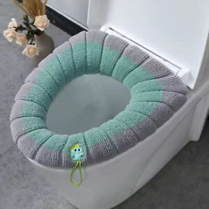 Toilet Seat Cover Lid Pad Soft Warmer Mat Thick Cushion For Bathroom Washable