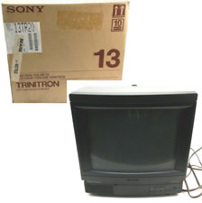 "Sony Model KV-13TR20 Trinitron Color CRT TV 13"" Retro Gaming Vintage Tested Work"
