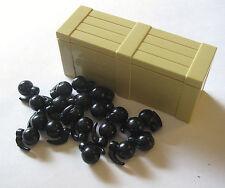 BrickArms FRAG GRENADE CRATE Lot 20 pcs M67 Grenade + Tan Crate! Military Army