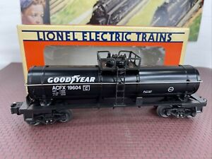 NEW O SCALE LIONEL 6-19604 GOODYEAR SINGLE-DOME TANK CAR NOS