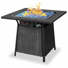 Blue Rhino Endless Summer Outdoor Patio Propane Gas Blue Glass Fire Pit   4