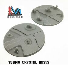 3D Printed - 100mm Scenic Crystal Cluster Style Bases - 2 Styles