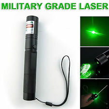 Military 301 Green Laser Pointer Pen 532nm Burning Beam Adjustable Focus Torch