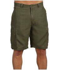 Tommy Bahama Key Grip Shorts Mens 36 Moss Faille Weave Flat Front NWT