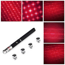Powerful Red Laser Pointer Pen 5in1 5mw 650nm Laser Flashlight+Free 5 Star Caps