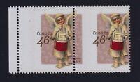 Canada Sc #1815 (1999) 46c Christmas Angels MISPERF PAIR Error Mint NH