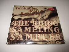 TURNTABLES BEATS AND BASSLINES The Rhino Sampling Sampler CD Promo Only 2CDs NEW